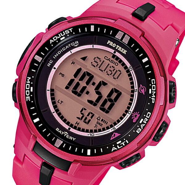 カシオ CASIO プロトレック 電波 タフソーラー メンズ 腕時計 時計 PRW-3000-4B ピンク【楽ギフ_包装】