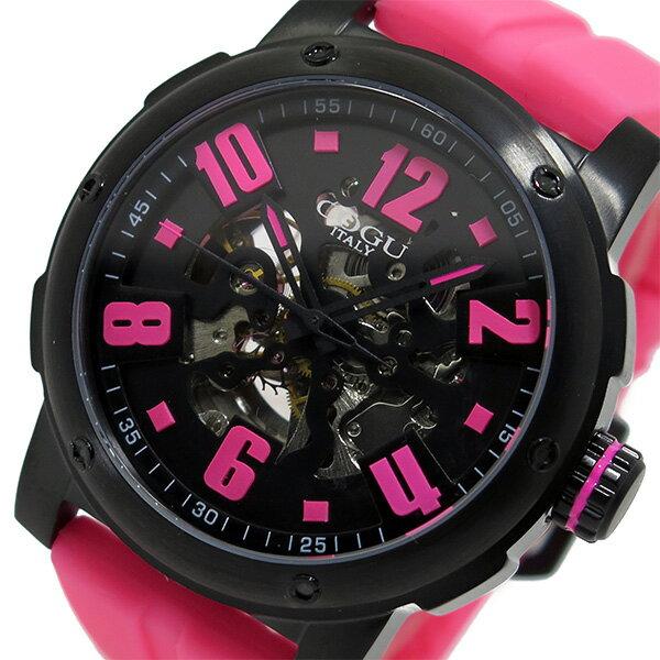 コグ COGU 自動巻き メンズ 腕時計 時計 3SKU-PKB ピンク/ブラック【楽ギフ_包装】