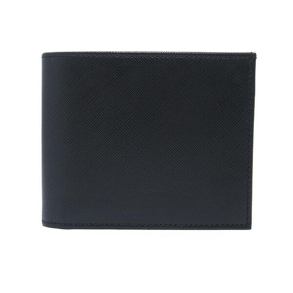アウトレット店舗 シルバノ ビアジーニ 二つ折り短財布 メンズ 7848012 ブラック【楽ギフ_包装】