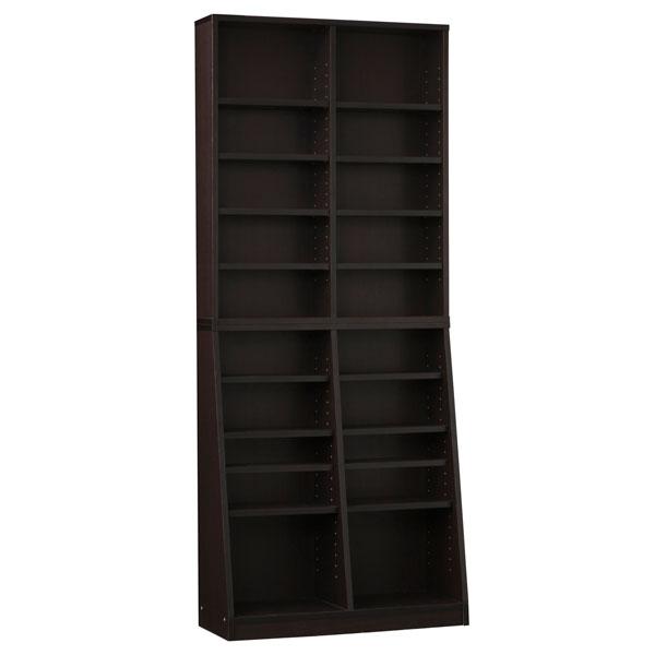 クロシオ SOHO 書棚W75 31122 ブラウン 代引き不可