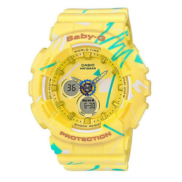 カシオ ベビーG BABY-G クオーツ レディース 腕時計 時計 BA-120SC-9A イエロー【楽ギフ_包装】