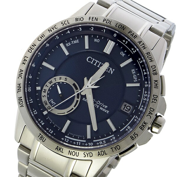 シチズン エコドライブ サテライト ウェーブ 電波 ソーラー メンズ 腕時計 CC3001-51L ダークブルー【送料無料】【楽ギフ_包装】