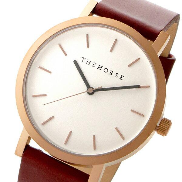 ザ ホース THE HORSE オリジナル クオーツ ユニセックス 腕時計 時計 ST0123-A5 ホワイト/ウォルナット【楽ギフ_包装】