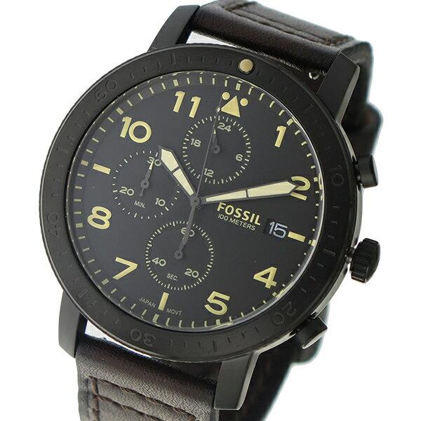フォッシル FOSSIL クロノ クオーツ メンズ 腕時計 時計 CH3086 ブラック【楽ギフ_包装】【S1】