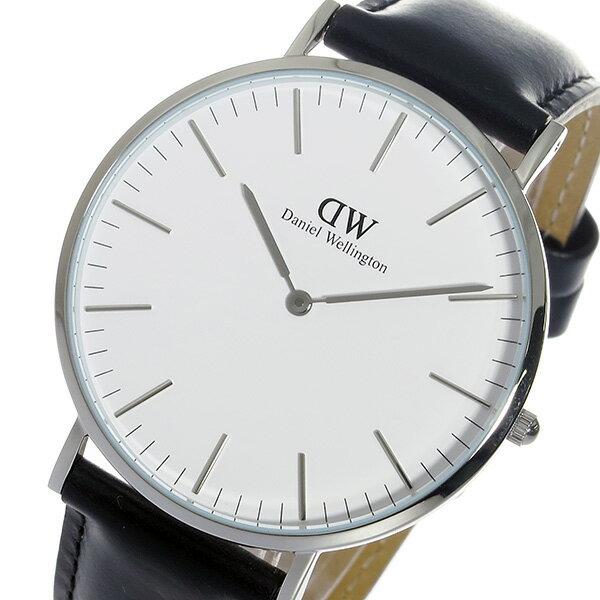 ダニエル ウェリントン シェフィールド/シルバー 40mm クオーツ 腕時計 時計 0206DW【楽ギフ_包装】