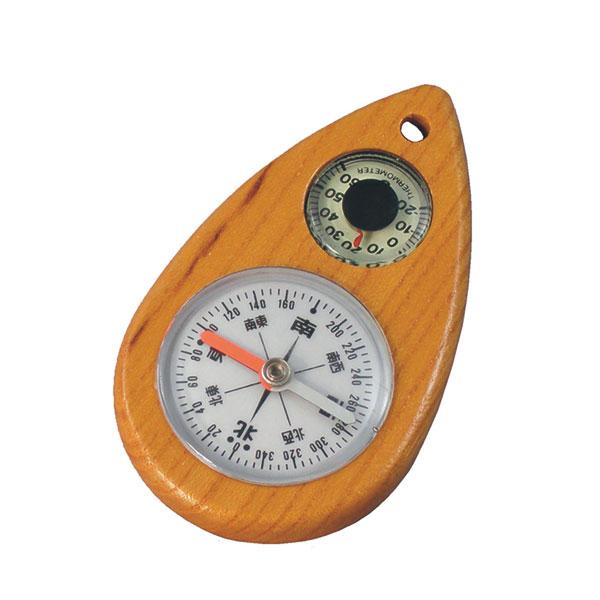 【MIZAR-TEC】ミザールテック オイル式 けやきコンパス 夜光温度計付 ブラウン 日本製 W-2 /20点入り(代引き不可)
