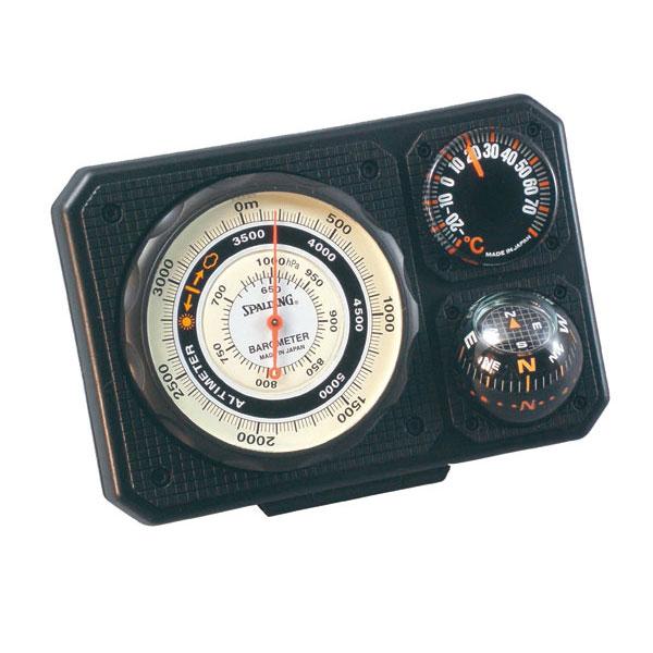 【SPALDING】スポルディング 気圧表示付高度計 ブラック 日本製 NO1230 /10点入り(代引き不可)