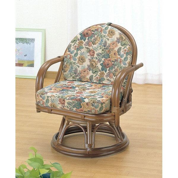 籐回転座椅子 H27TK771(代引不可)【smtb-f】