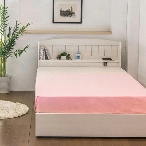 ベッド シングル 棚 コンセント 引き出し付き カントリー調ベッド 二つ折りボンネルコイルマットレス付(代引不可)【送料無料】【smtb-f】