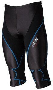 4DM(フォーディーエム) 4DMB0601 4DMB0601 メンズ セミロングタイツ ブラック×ブルー Oサイズ