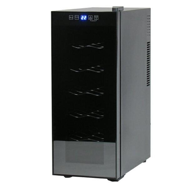 12本収納ワインセラー ワインセラー 12本収納 家庭用 タッチパネル式 LED表示 ハーフミラー ワインクーラー (代引不可)【送料無料】