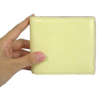 革の宝石コードバン 二つ折財布 小銭入れ付