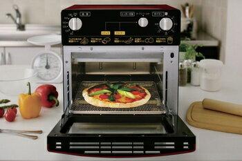 アイリスオーヤマ ノンフライ熱風オーブン FVH-D3A-R 調理器具 レッド FVH-D3A-R(代引き不可)