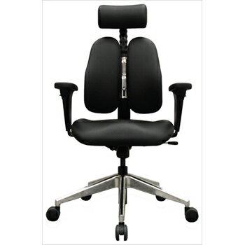 人体を探求した人間工学DUOREST(デュオレスト) DR-7550GD 肘付き 背筋を伸ばす 2つの背もたれの椅子 パソコンチェア オフィスチェア ヘッドレスト  椅子 腰痛防止(代引き不可)【送料無料】