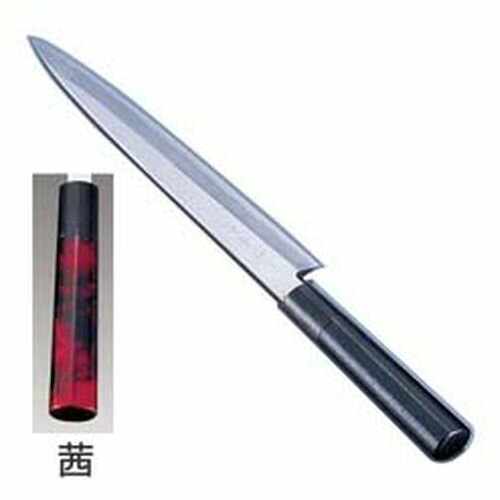 インテックカネキ 歌舞伎調和包丁 忠舟 柳刃 24cm 茜 ATD0103