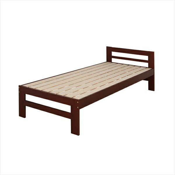 パインフレームのすのこベッド上段シングル 北欧 シンプル おしゃれ(代引不可)【送料無料】【smtb-f】