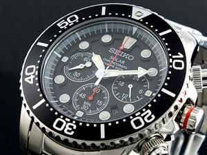 セイコー SEIKO ソーラー クロノグラフ ダイバーズ 腕時計 時計 SSC015P1【楽ギフ_包装】