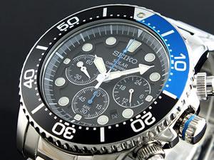 セイコー SEIKO ソーラー クロノグラフ ダイバーズ 腕時計 時計 SSC017P1【楽ギフ_包装】 P04Jul15