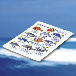 今治産タオル 魚×魚 ハンドタオル (140匁パイル) 日本製 /300点入り(代引き不可)