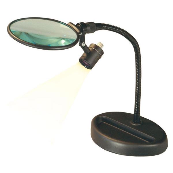 スタンドルーペ 倍率2.5倍 レンズ径100mm フレキシブルアーム LEDライト付き 日本製 100GM-LED /5点入り(代引き不可)