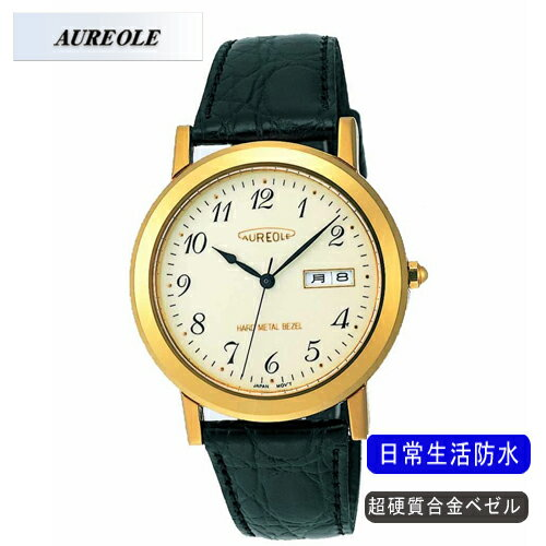 【AUREOLE】オレオール メンズ腕時計 SW-436M-2 アナログ表示 超硬質合金ベゼル 日常生活用防水 /10点入り(代引き不可)