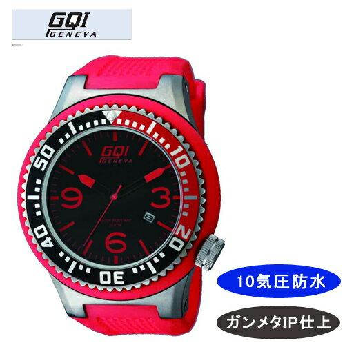 【GQI GENEVA】 ジェネバ メンズ腕時計 GQ-110 アナログ表示 10気圧防水 /1点入り(代引き不可)