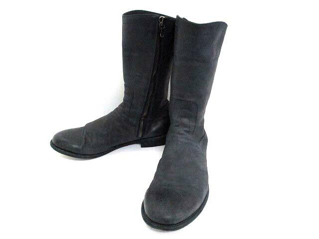 ユリウス JULIUS ブーツ 2 26.5cm 紺 ネイビー レザー サイドジップ シンプル 無地 ミドル メンズ 【中古】【ベクトル 古着】 170222 古着 買取&販売 ベクトルイズム