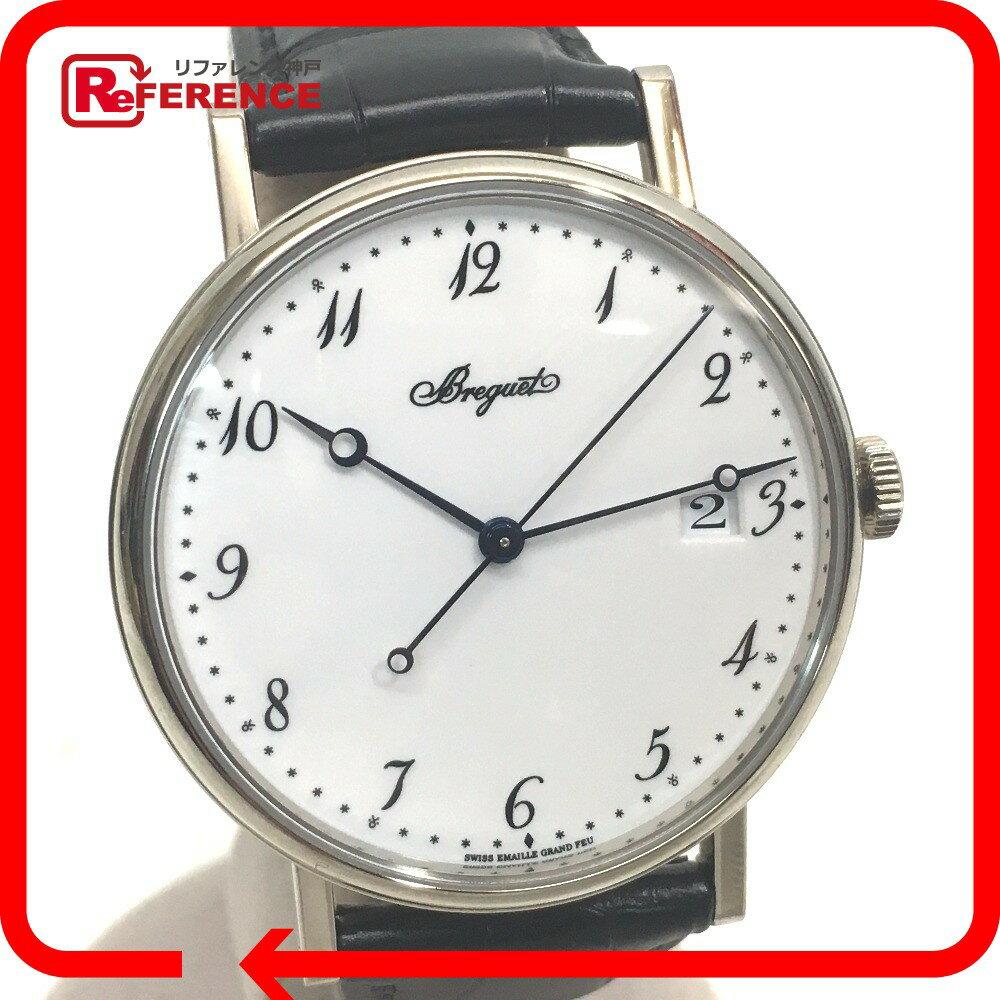 Breguet ブレゲ  5177BB299V6 裏スケ メンズ腕時計 クラシック シリシオン 腕時計 K18WG/レザー ホワイトゴールド メンズ 未使用【中古】