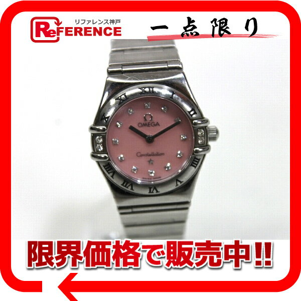 OMEGA オメガ  1566.66 レディース腕時計  ミニ マイチョイス コンステレーション 腕時計 SS/12Pダイヤインデックス/4Pダイヤベゼル シルバー レディース【中古】