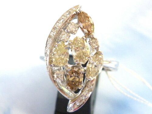 Pt900×ダイヤモンド合計1.2ct×合計0.16ct プラチナ リング