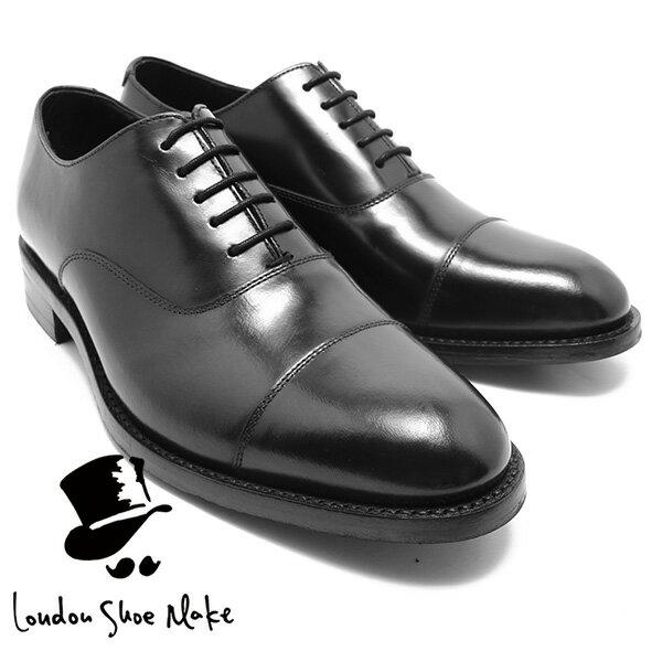 London Shoe Make/Oxford & Derby 8008 グッドイヤー内羽ストレートチップシューズ ブラック 本革ビジネスシューズ ビジネス/ドレス/紐靴/革靴/仕事用/メンズ