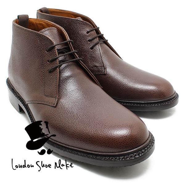 London Shoe Make/Oxford & Derby 8016 グッドイヤーチャッカブーツ ダークブラウン 本革ビジネスシューズ ビジネス/ドレス/紐靴/革靴/仕事用/メンズ