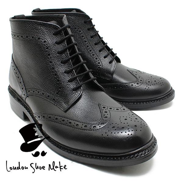 London Shoe Make/Oxford & Derby 8018 グッドイヤーモンキーブーツ ブラック 本革ビジネスシューズ ビジネス/ドレス/紐靴/革靴/仕事用/メンズ
