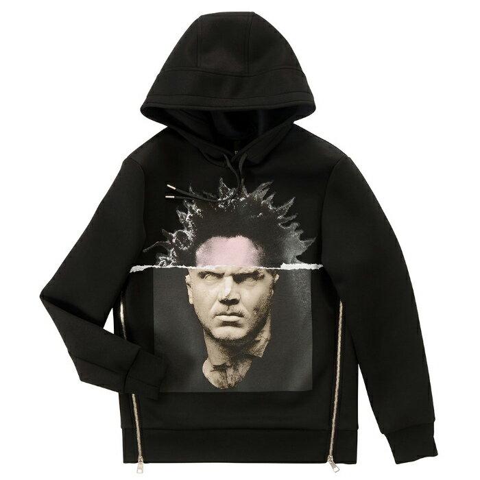 【メンズ】NeIL BarreTT Mascus Brutus Basquiat Hoodie ニールバレット マスカス ブルータス バスキア フーディー パーカー 黒 ブラック プルオーバー PBJS188D E528S 01
