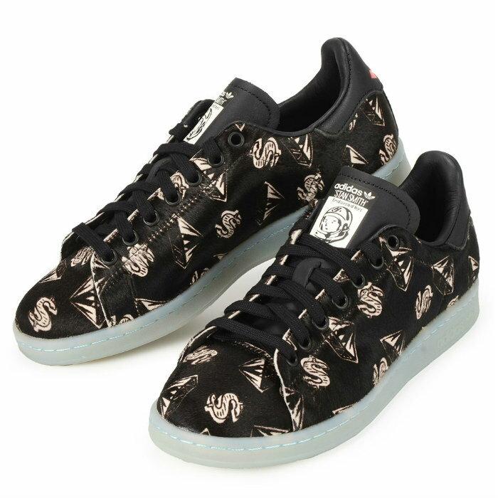 【エントリーでポイント+9倍 12/21 9:59まで】 【男女兼用】adidas × PHARRELL PW STAN SMITH PONYHAIR S32038 アディダス コラボ ファレル スタンスミス ブラック 靴 スニーカー