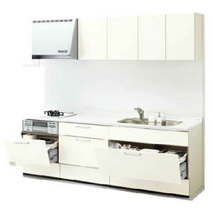 LIXILシステムキッチン リシェルI型 お手入れらくらくプラン 食洗機なし 奥行650 間口2400 扉グループ1リリパのリフォームパック