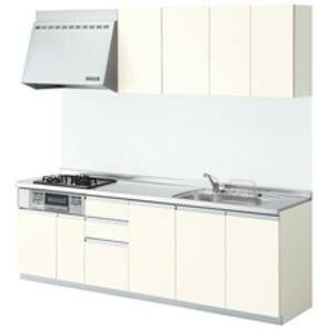 LIXILシステムキッチン シエラI型 開き扉プラン 食洗機なし 奥行650 間口2550 扉グループ1リリパのリフォームパック