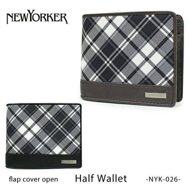 ニューヨーカー NEWYORKER 財布 NYK026 【 チェック&レザー 】 【札入れ 二つ折り 】