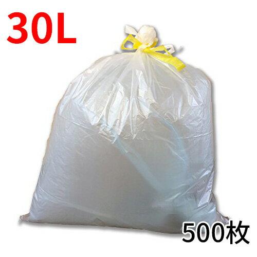 ★�ケース販売】��料無料】�も付�ゴミ袋「リコロ���明 30リットル 10枚入り50冊(500枚)