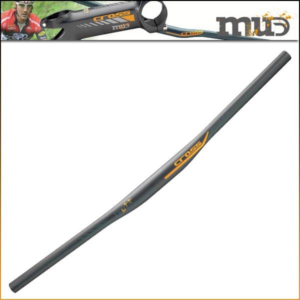 マッド CROSS FLAT MTB カーボンハンドルバー (31.7)【MUD】