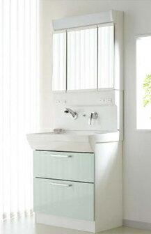 ASAHI EITO 洗面化粧台PURARE 『ピュレア』ストックカーゴタイプLT4780AUR 洗面化粧台+化粧鏡(三面鏡)セット