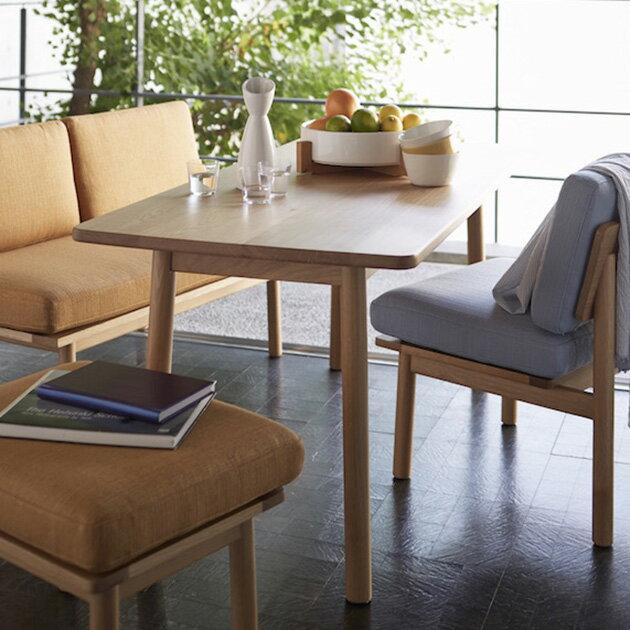 SIEVE ダイニングテーブル 木製 無垢 SIEVE シーヴ  fluff dining table M フラッフダイニングテーブルMサイズ 【ノベルティ対象外】  無垢 木製 テーブル リビング 北欧 ダイニング 食卓 食堂 4人 幅140