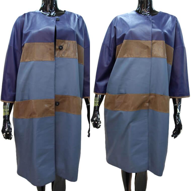 【OFF Price】ラグラン ノーカラー ネイキッド レザーコート レディース ladies leather coat