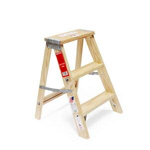 wood step ladderSize 2 (ウッドステップラダー サイズ2)小さい脚立 梯子 はしご DIY 工具 踏み台 ディスプレイ台 植物台 木製 カフェ テーブル脚 店舗什器 ショップディスプレー おしゃれ 海外製 ミシガンラダー社 ステップ台 折りたたみ