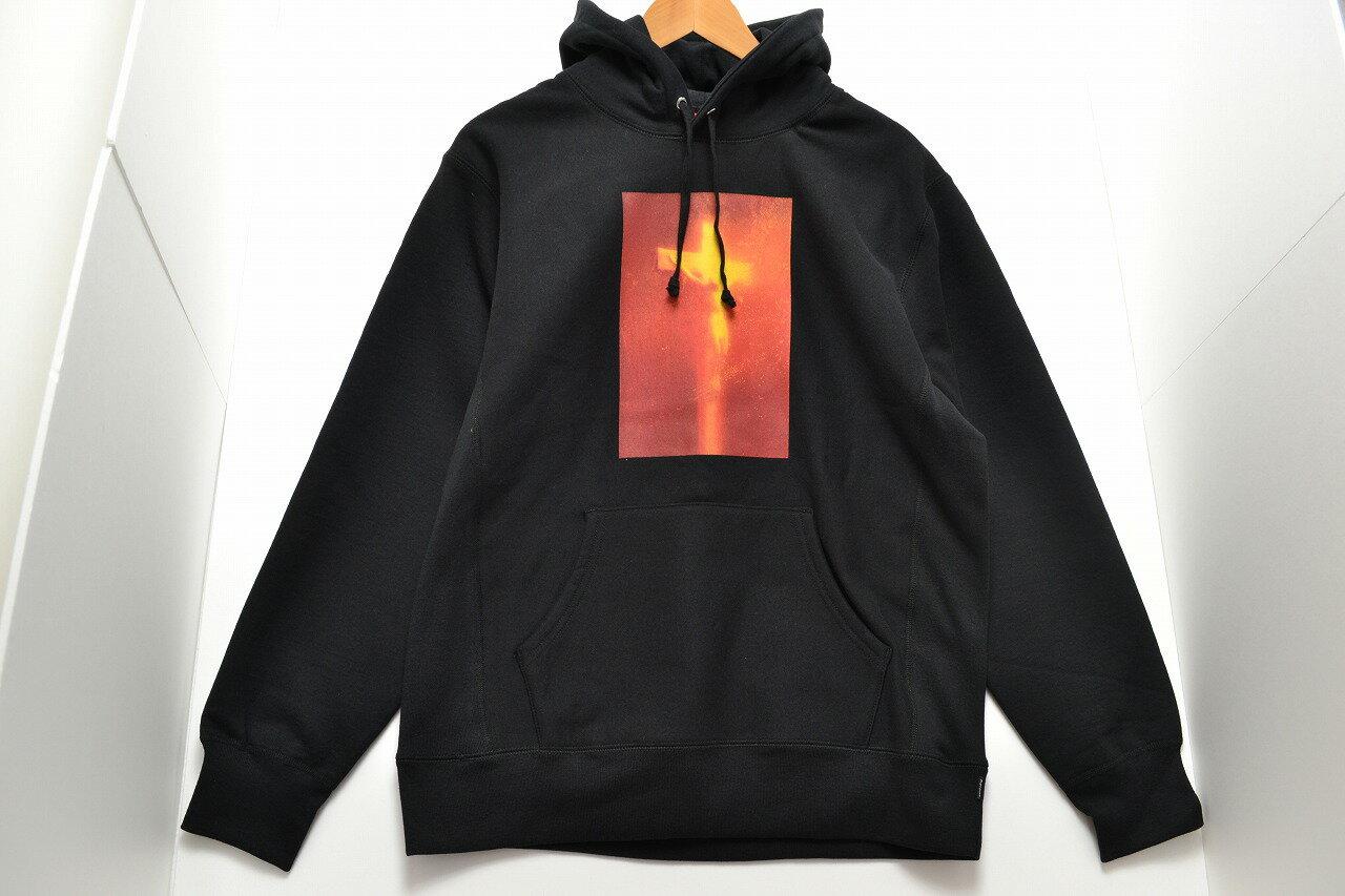 【美品】Supreme 17AW Piss Christ Hooded Sweatshirt シュプリーム フーディ パーカー アンドレスセラーノ SIZE:L  メンズ ブラック  【中古】【ストリート・ルード】【金沢本店 併売品】【6600545Kz】
