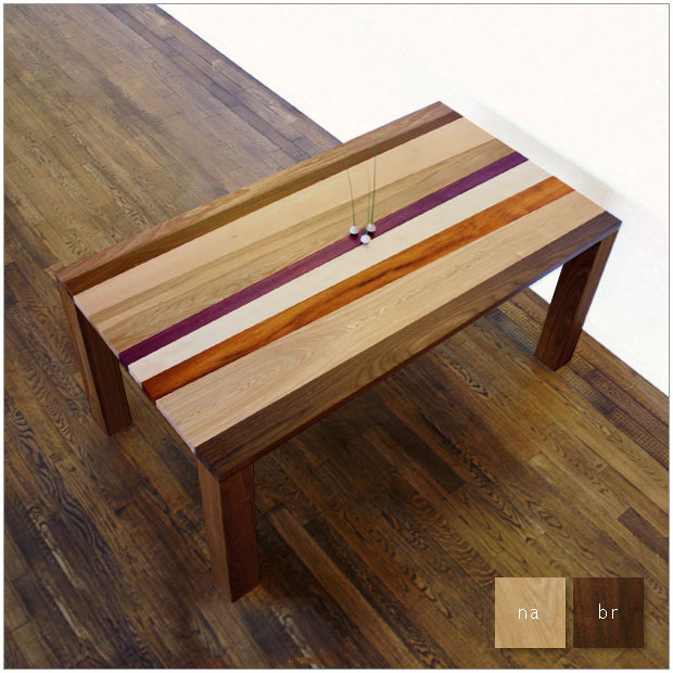 ・セセンタ ダイニングテーブル185・北欧ミッドセンチュリーモダンデザイン・無垢材を使用したハイクオリティーテーブル・9種類の木材を使用・エコ仕様 F☆☆☆☆ ・モダンリビング デザインテーブル