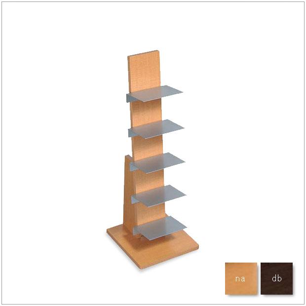 ・ブックタワー L54NA/L53DA・シンプルで北欧モダンなグッドデザイン・雑誌収納ラック、マガジンラック・タワー型 ロータイプ