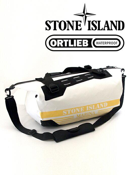 STONE ISLAND ストーンアイランド ボストンバッグ 3WAY ホワイト×イエロー 完全防水 ORTLIEB オルトリーブ ホワイト×イエロー sti341003