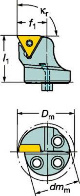 [570STFCR1611B1]サンドビック コロターンSL コロターン107用カッティングヘッド[1本入]【サンドビック(株)】(570-STFCR-16-11-B1)