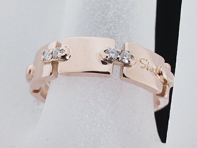 スタージュエリー STARJEWELRY ダイヤモンドリングK18PGピンクゴールドダイヤモンド 12号強【中古】【ロイヤルブルー】【送料無料】
